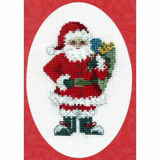 Santa\'s Sack Christmas Cross Stitch Card Kit