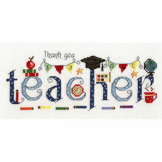 Thank You Teacher Cross Stitch Kit