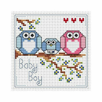 The Twitts Baby Boy Cross Stitch Card Kit