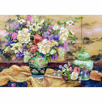 Oriental Splendor Crewel Kit