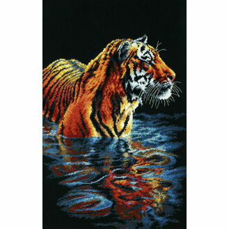 Tiger Chilling Out Cross Stitch Kit