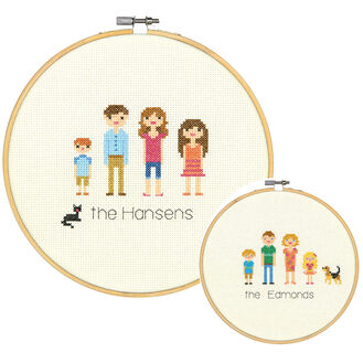 All In The Family Cross Stitch Kit