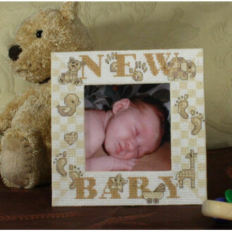 New Baby Stitch A Frame Cross Stitch Kit