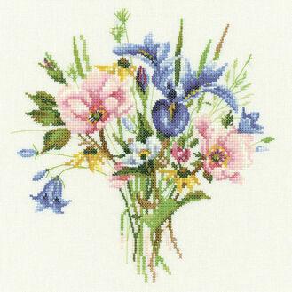Wild Flower Posy Cross Stitch Kit