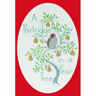 Partridge In A Pear Tree Cross Stitch Christmas Card Kit
