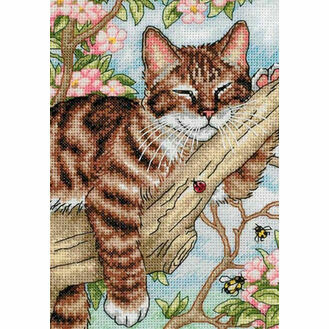 Napping Kitten Cross Stitch Kit