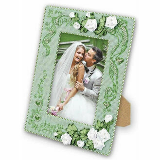 With Love Photo Frame Cross Stitch & Ribbons Kit