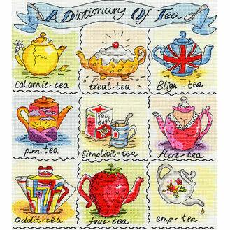 Dictionary of Tea Cross Stitch Kit