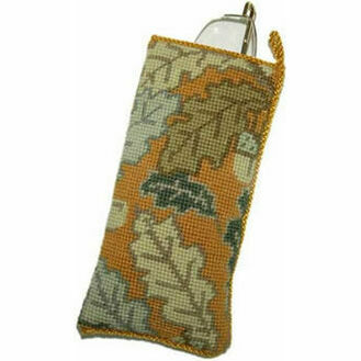 Gold Acorn Tapestry Glasses Case Kit