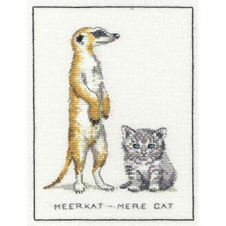 Meerkat - Mere Cat Cross Stitch Kit