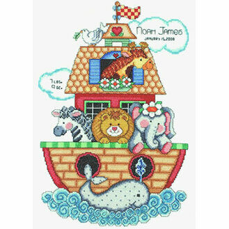 Noah's Ark Birth Sampler Cross Stitch Kit