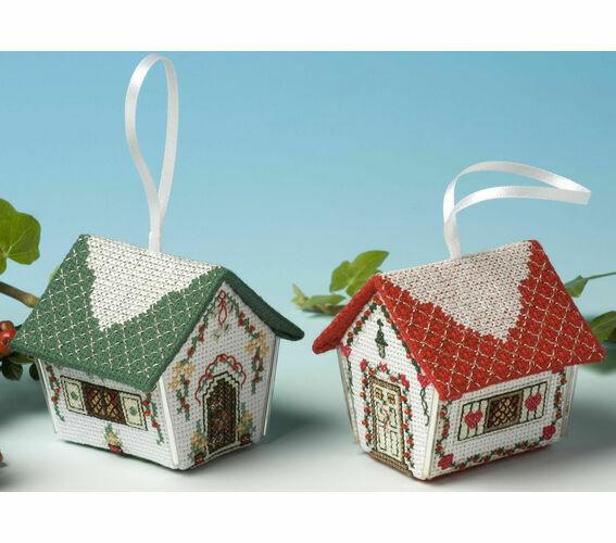 Oranges /& Lemons Gingerbread House 3D Cross Stitch Kit