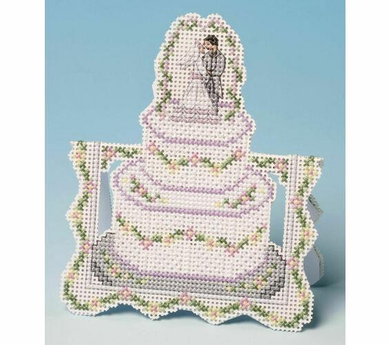 La Noix De Muscade Société gâteau de mariage carte 3D Counted Cross Stitch Kit 14 Comte