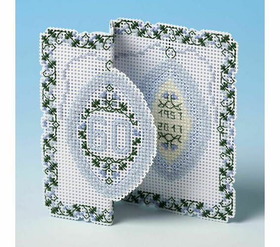 The Nutmeg Company Christmas Ring 3D Counted Cross Stitch Card Kit