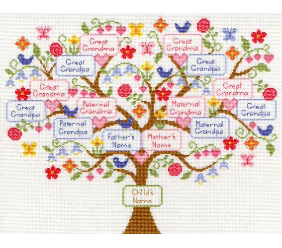 my family tree cross stitch kit ebay