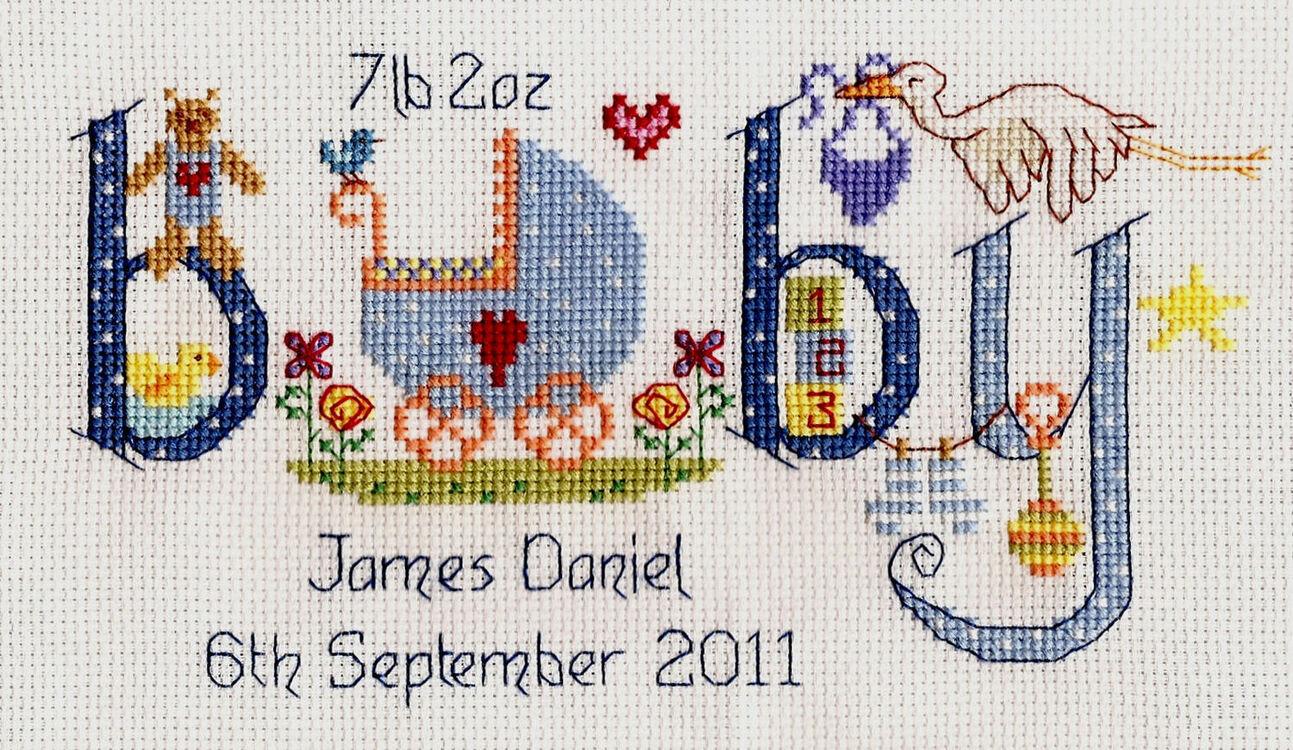 Baby Boy Birth Sampler Cross Stitch Kit Only 163 20 00