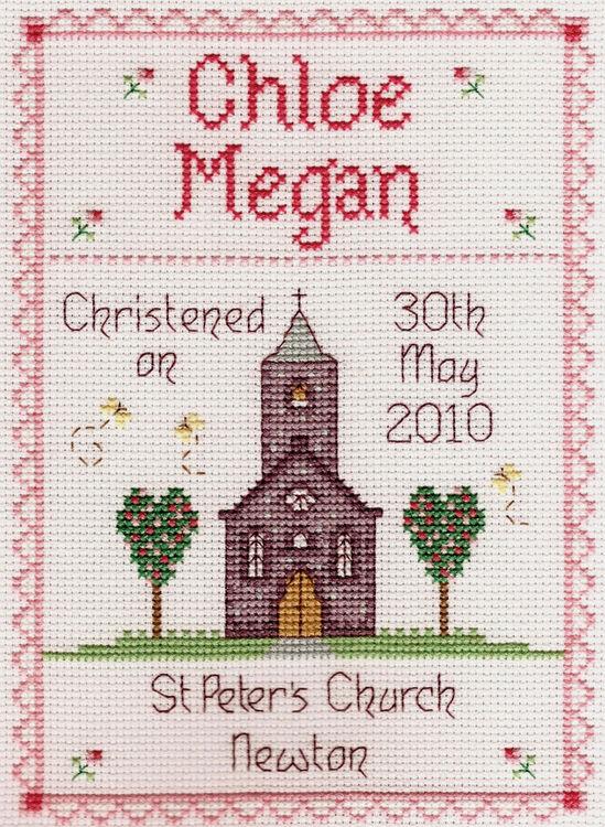 2375508317c Girl Christening Cross Stitch Kit only £19.00