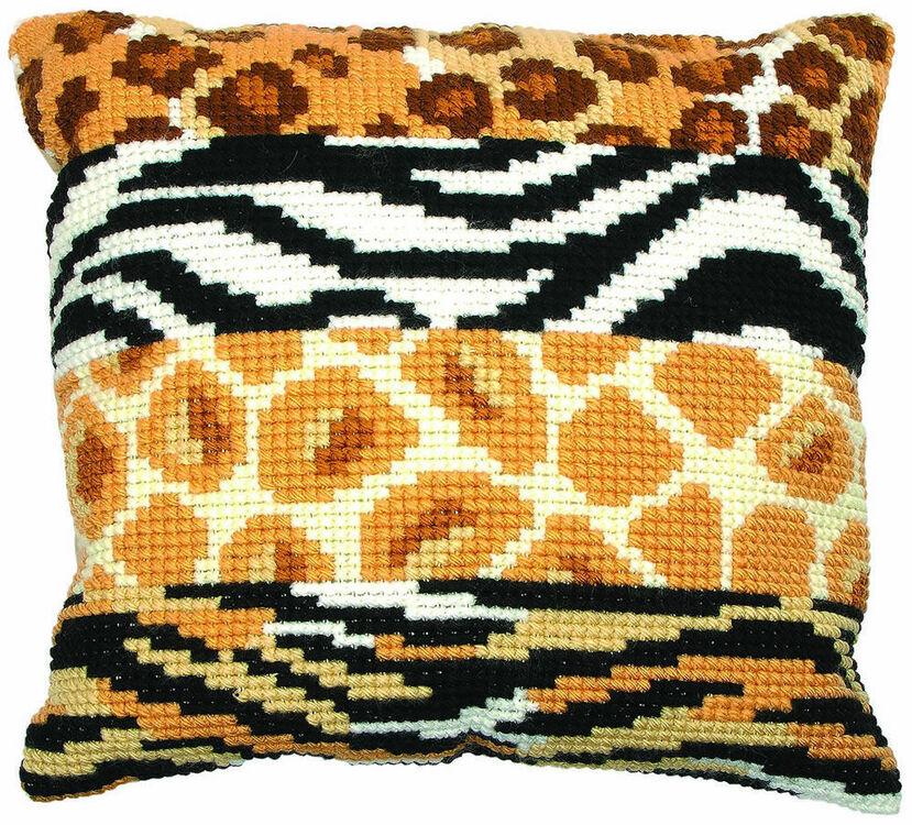 Animal Print Chunky Cross Stitch Cushion Panel Kit Only 27 00