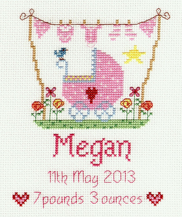 New Baby Girl Cross Stitch Kit Only 163 19 00