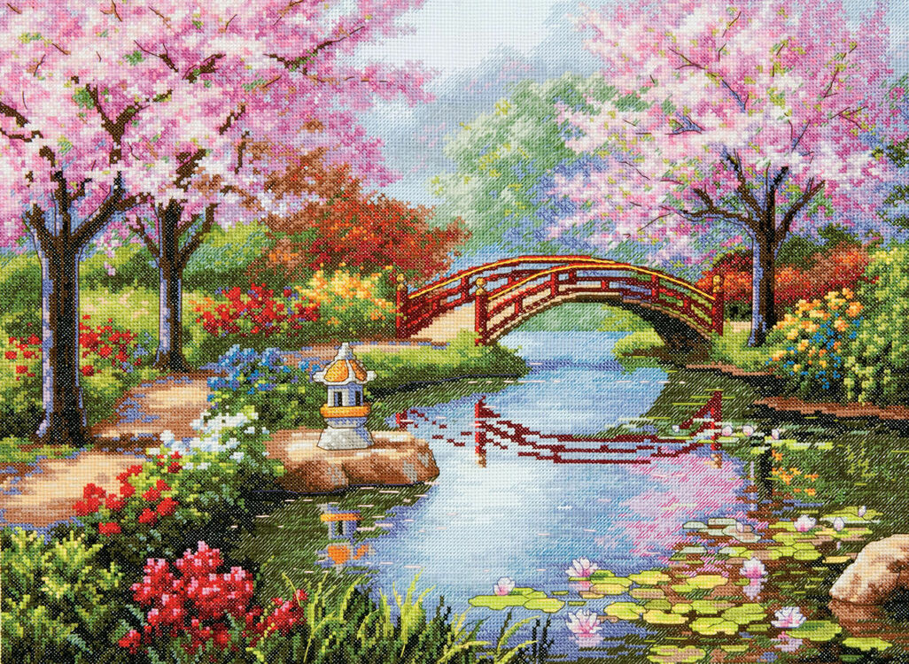 Japanese Garden Cross Stitch Kit By Dimensions