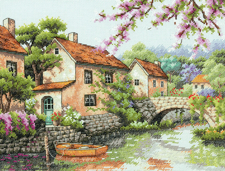 Counted Cross Stitch Kit ENGLISH CASTLE Dimensions Gold Collection