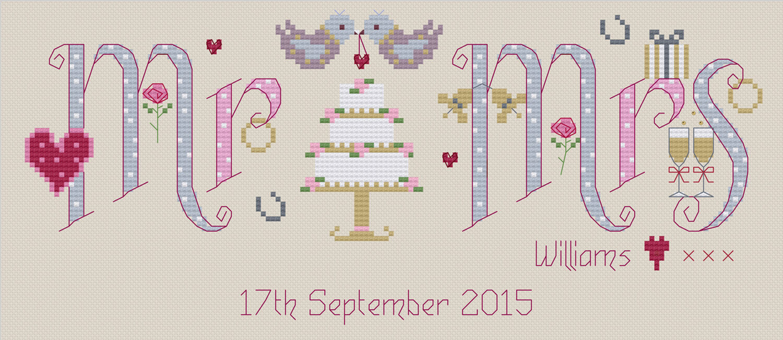 d891feb48e0 ... Mr   Mrs Cross Stitch Kit additional 2