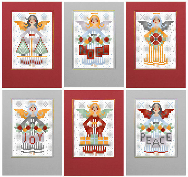 angels christmas card kits set of 6 only £1900