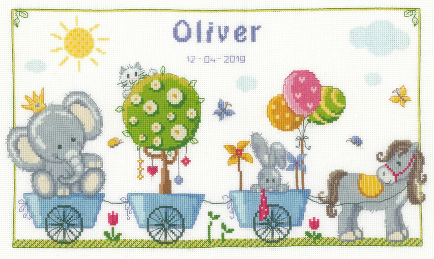 cute animal parade cross stitch kit only 35 50