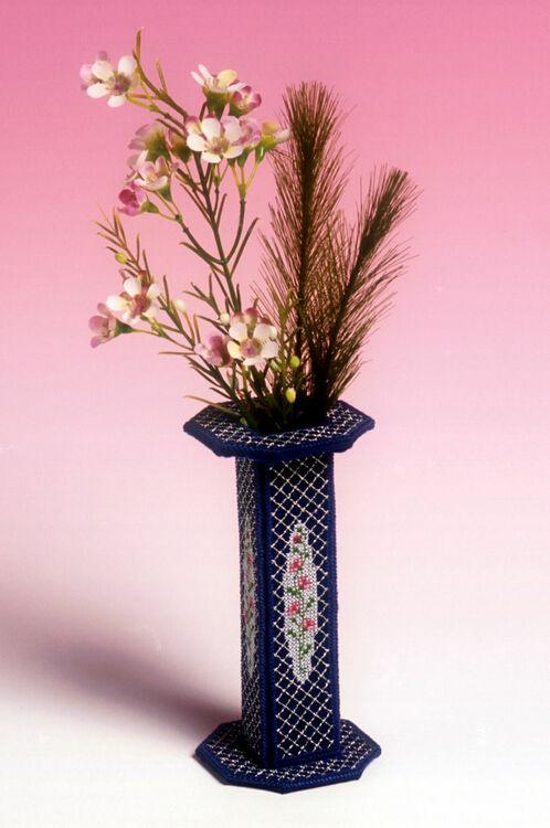 Rosebud Vase 3d Cross Stitch Kit Only 1495
