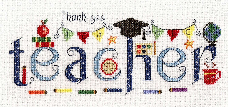 6bc81ec1b09 Thank You Teacher Cross Stitch Kit only £20.00