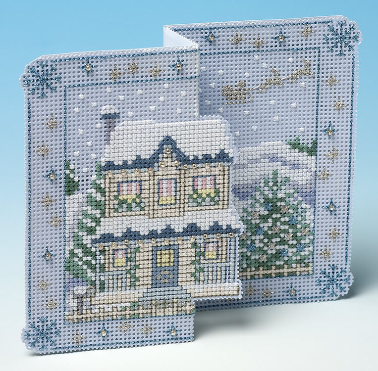 Winter Wonderland Deluxe 3D Christmas Card Cross Stitch
