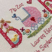 Baby Girl Birth Sampler Cross Stitch Kit additional 3
