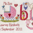 Baby Girl Birth Sampler Cross Stitch Kit additional 5
