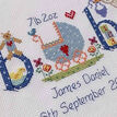 Baby Boy Birth Sampler Cross Stitch Kit additional 3
