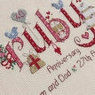 Ruby Wedding Anniversary Word Sampler Cross Stitch Kit additional 2