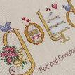 Golden Wedding Anniversary Word Sampler Cross Stitch Kit additional 3