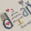 Diamond Wedding Anniversary Word Cross Stitch Sampler Kit additional 3