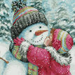 A Kiss For Snowman Cross Stitch Kit additional 1