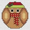 Christmas Twitt Cross Stitch Card Kit additional 2