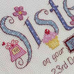 Sister Birthday Cross Stitch Kit additional 2