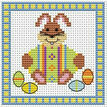 Bunny And Green Egg Easter Cross Stitch Card Kit additional 2
