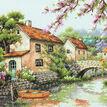 Village Canal Cross Stitch Kit additional 1