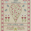 Swag & Heart Wedding Sampler Cross Stitch Kit additional 1