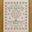 Folk Anniversary Sampler Cross Stitch Kit additional 2