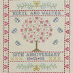 Folk Anniversary Sampler Cross Stitch Kit additional 1