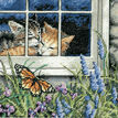 Feline Love Cross Stitch Kit additional 1