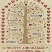 Heart And Tree Wedding Sampler Cross Stitch Kit additional 1