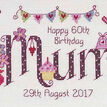 Mum Birthday Cross Stitch Kit additional 1