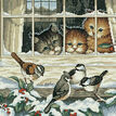 Three Bird Watchers Cross Stitch Kit additional 1