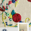 Rose Garland Embroidery Cushion Kit additional 3